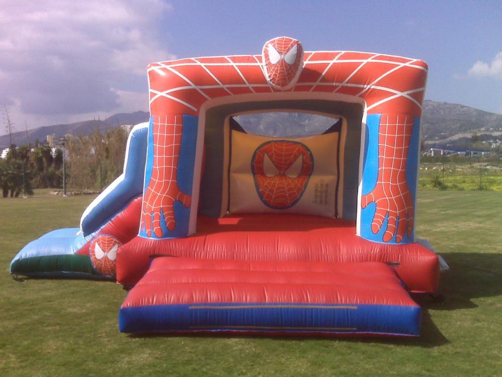 alquiler castillos hinchables malaga deportae castillo spiderman