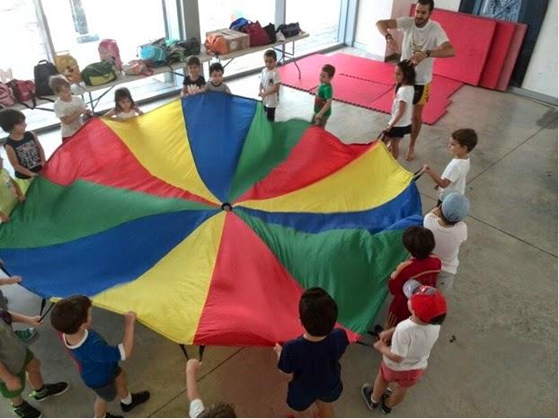 juegos con paracaidas para nios