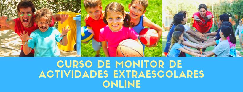 curso de monitor de actividades extraescolares online