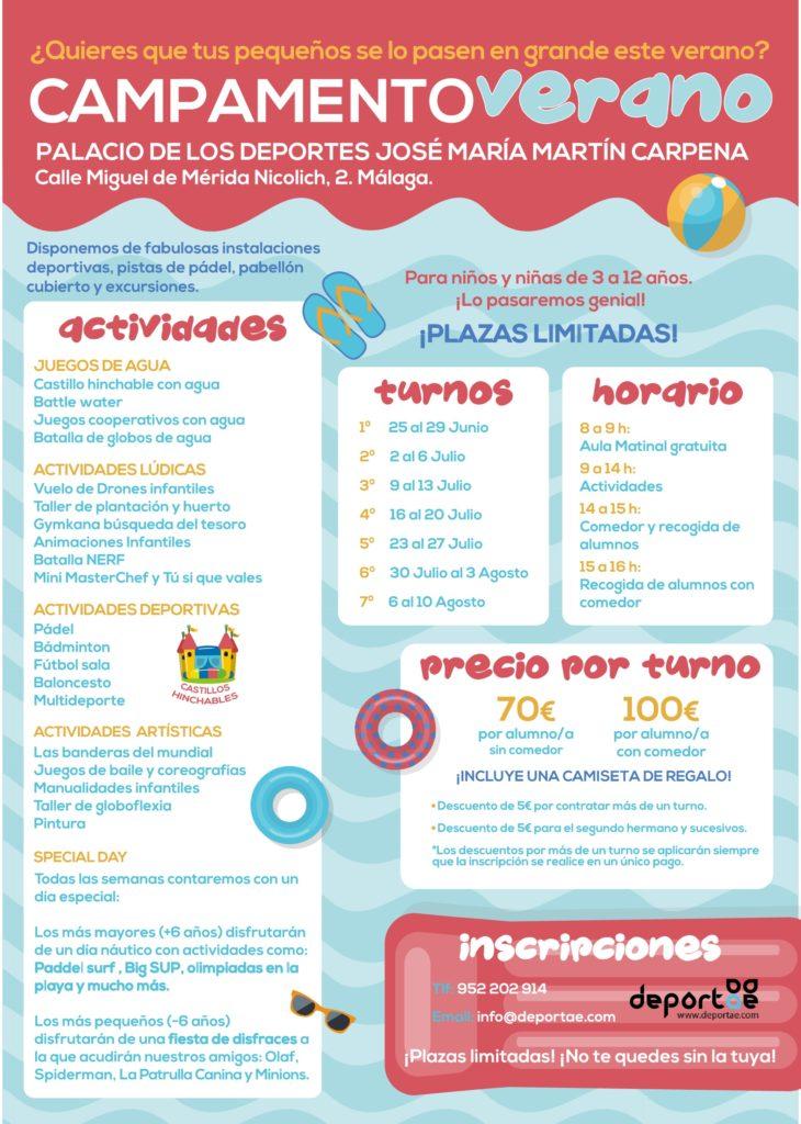 Campamento de verano en MálagaMartín carpena
