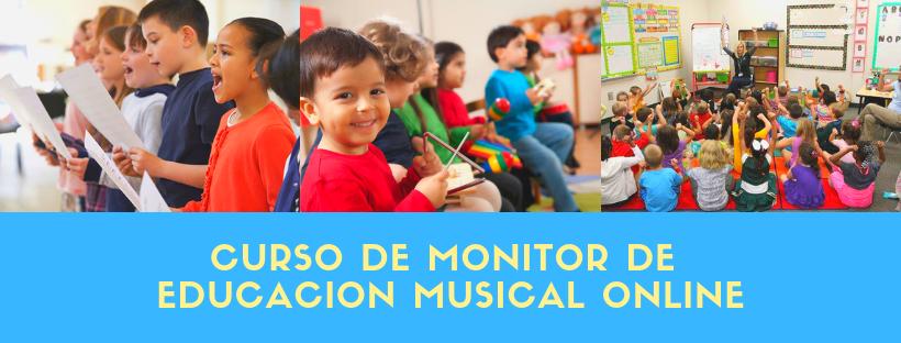 curso de monitor de educacion musical online