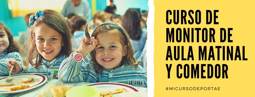 Curso Monitor Aula Matinal y Comedor Escolar Online