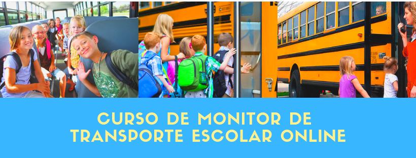 curso de monitor de transporte escolar online