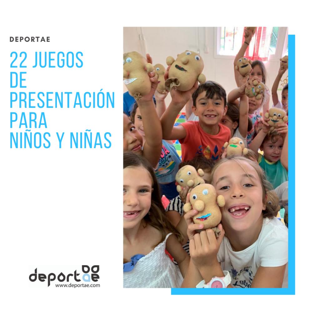 22 juegos de presentación para niños y niñas